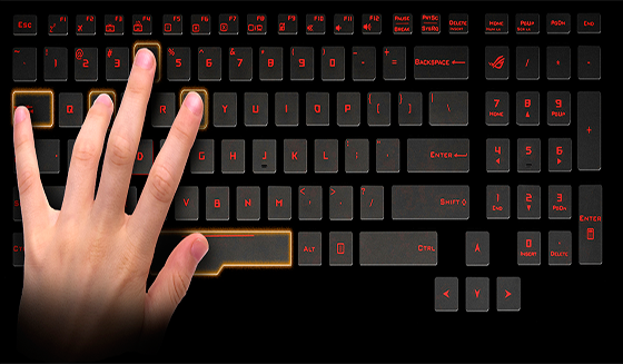 keyboard backlit asus rog g752
