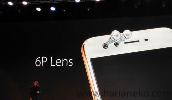 6Lens kamera depan Oppo F3 Plus Gold