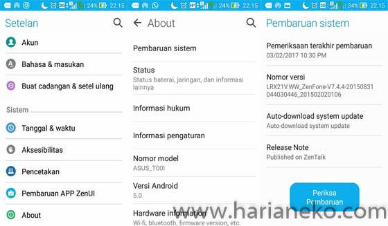 Cara upgrade smartphone