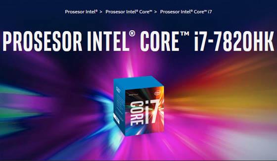 Prosesor Intel Core-i7 7820HK