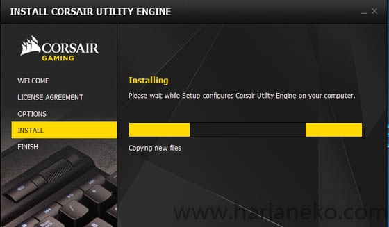 Cara Instal Corsair Utility Engine