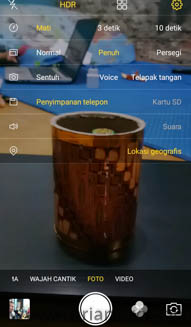 Pengaturan kamera belakang Vivo V5s