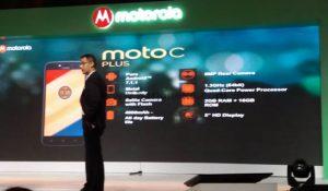 Spesifikasi Moto C Plus