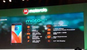 Spesifikasi Moto E4 Plus