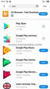 Google Playstore Meizu M5C
