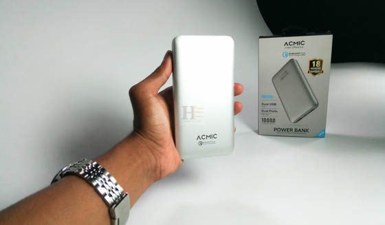 Desain Power bank Acmic A10 Pro