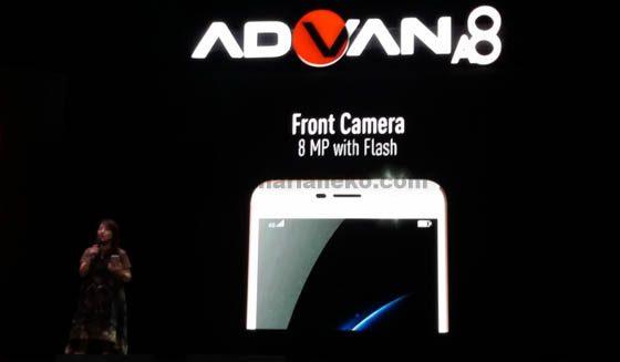 Kamera depan Advan A8