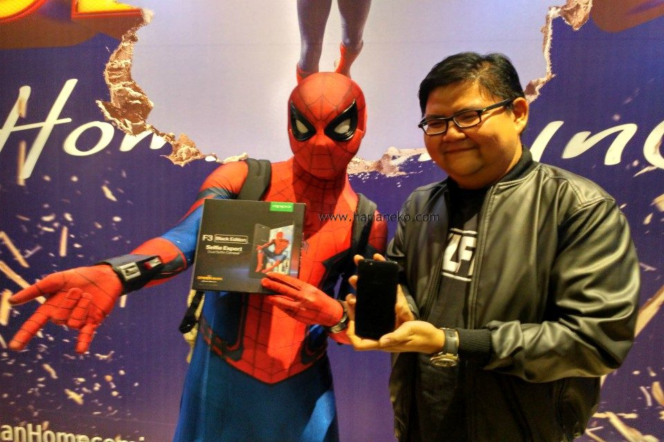 Oppo F3 Black Edition Indonesia Spiderman homecoming