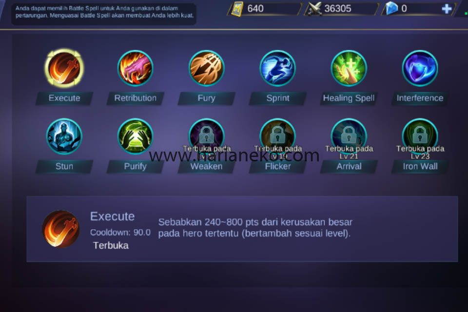 Pilih Ability Mobile Legends